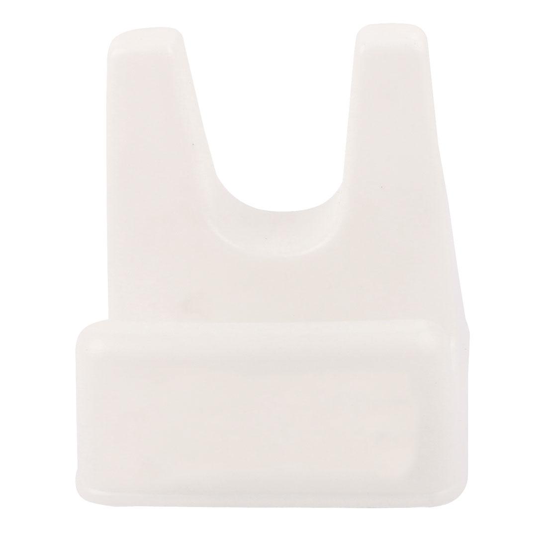 Kitchen Utensil Plastic Pan Pot Lid Cover Ladle Stand Holder Shelf Rack White