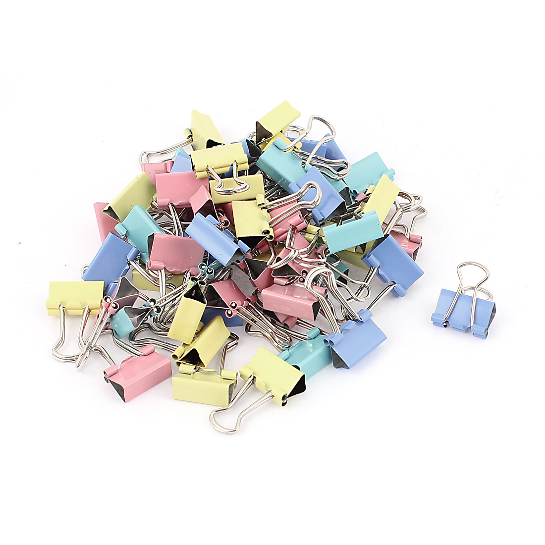 Office 15mm Wide Paper File Ticket Spring Binder Clips Assorted Color 60pcs