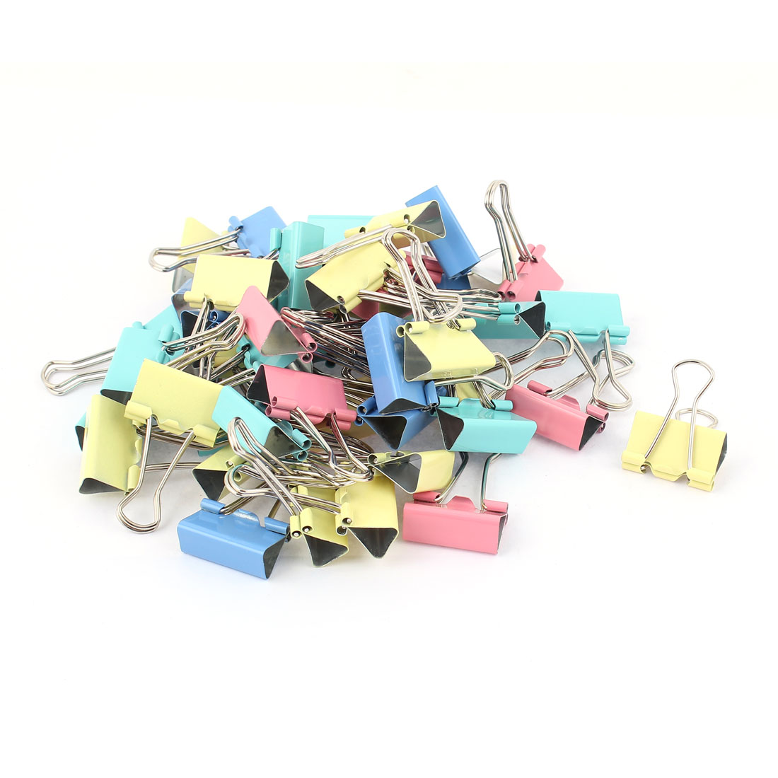 Office 25mm Wide Paper File Ticket Spring Binder Clips Assorted Color 48pcs