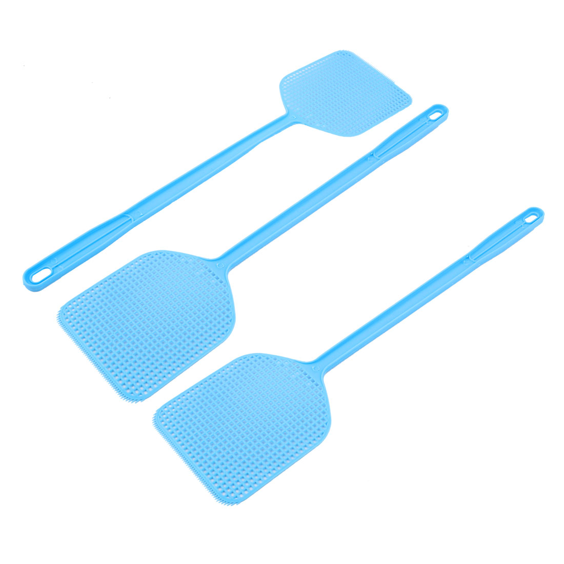 3pcs Blue Plastic Fly Swatter Bug Mosquito Insect Killer Catcher 45cm Length