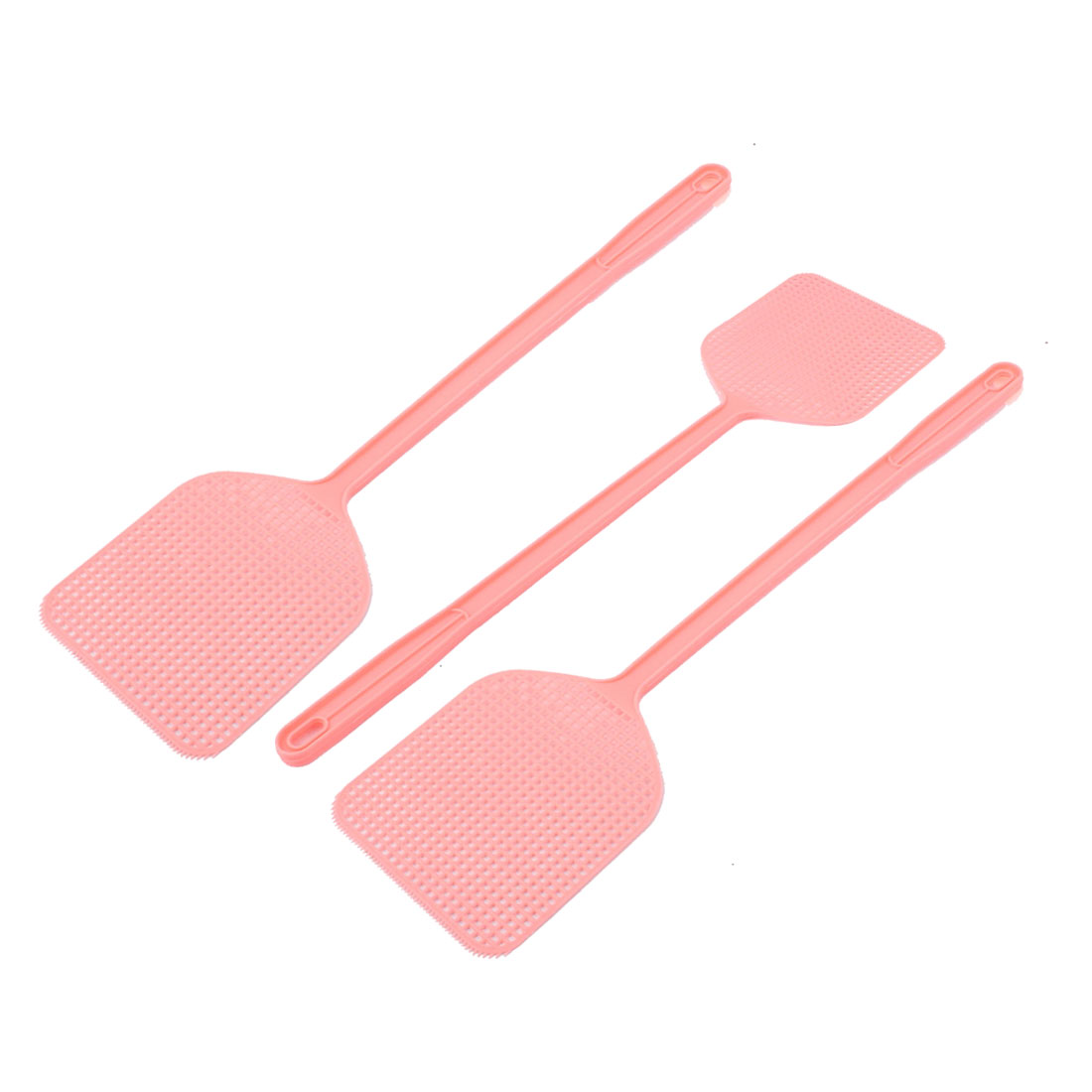 3pcs Pink Plastic Fly Swatter Bug Mosquito Insect Killer Catcher 45cm Length