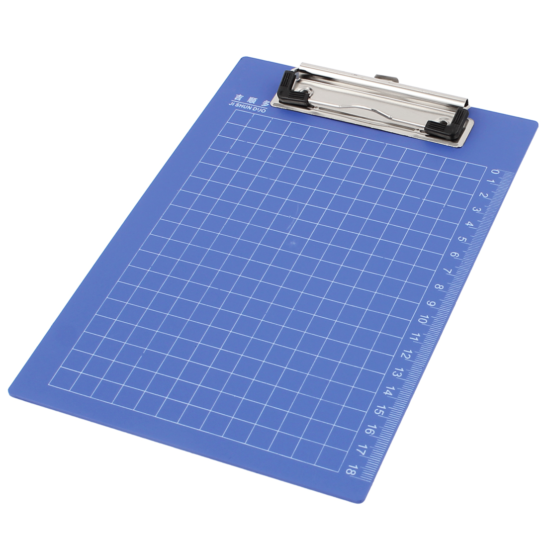 Grid Printed Measurement Scale Office File Writing Clipboard Paper Holder Blue
