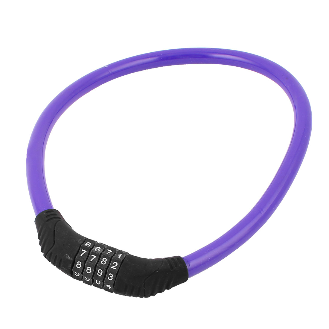 Bike Bicycle Cycle Steel Wire Cable 4 Digit Combination Password Lock Purple