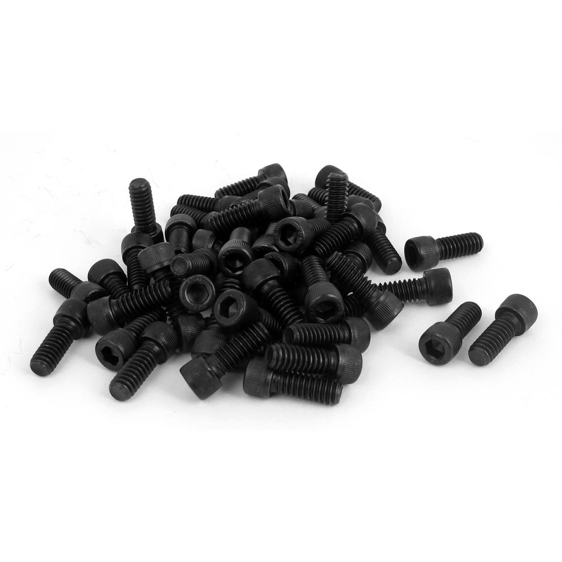 """1/4""""-20x5/8"""" 12.9 Alloy Steel Hex Socket Head Cap Screws Bolts Black 100Pcs"""