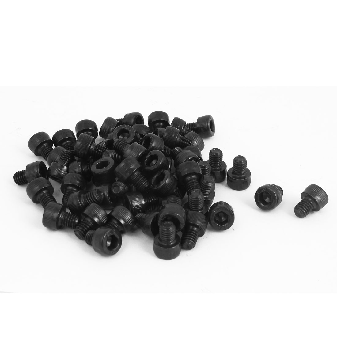 100Pcs M5x6mm Metric 12.9 Alloy Steel Black Hex Socket Head Cap Screws Bolts