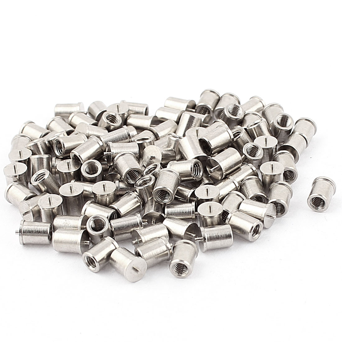 M3x6mm Female Thread Welding Stud Machinery Screws 100pcs w Soldered Dot