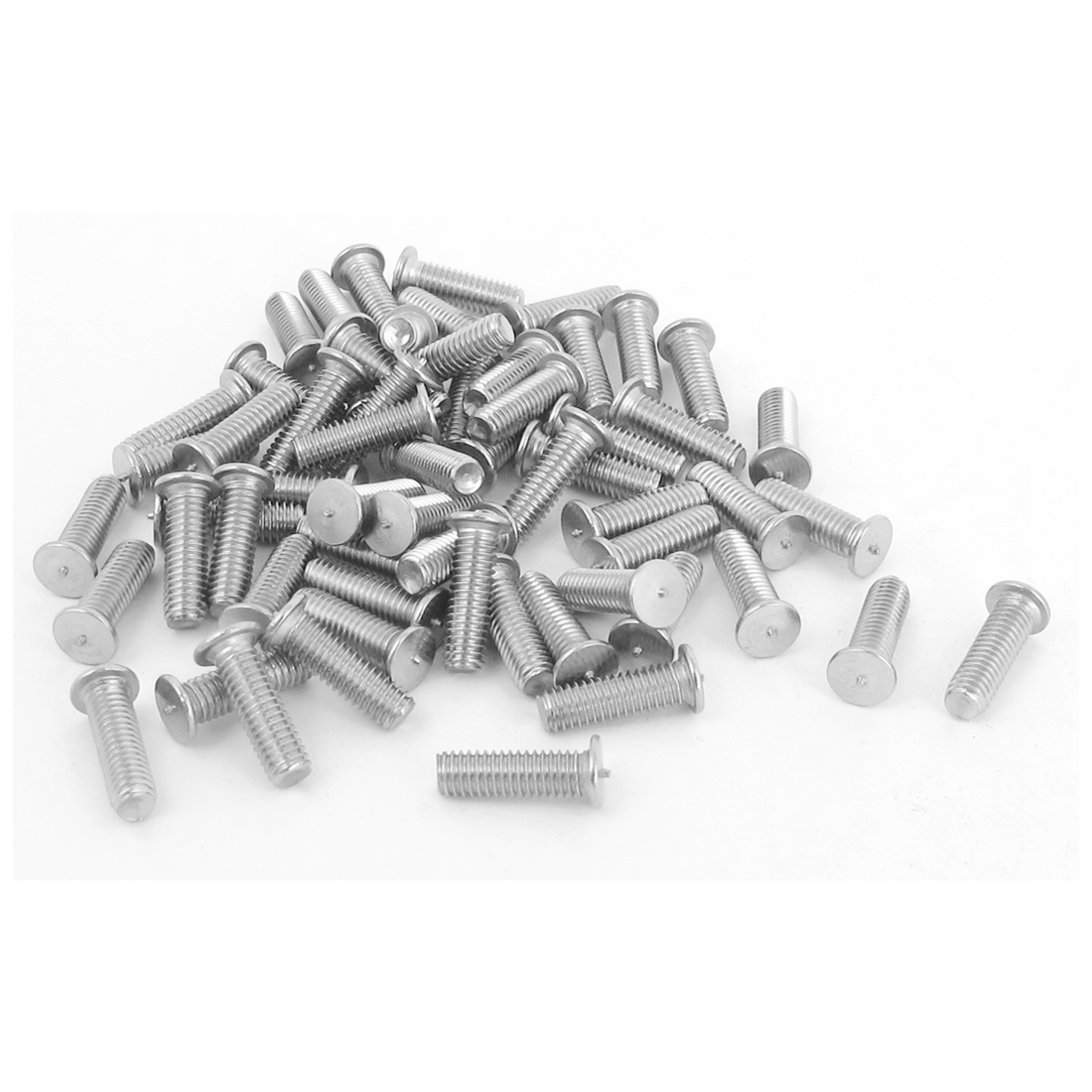 M3x10mm 304 Stainless Steel Welding Stud Machinery Screws w Soldered Dot 100Pcs