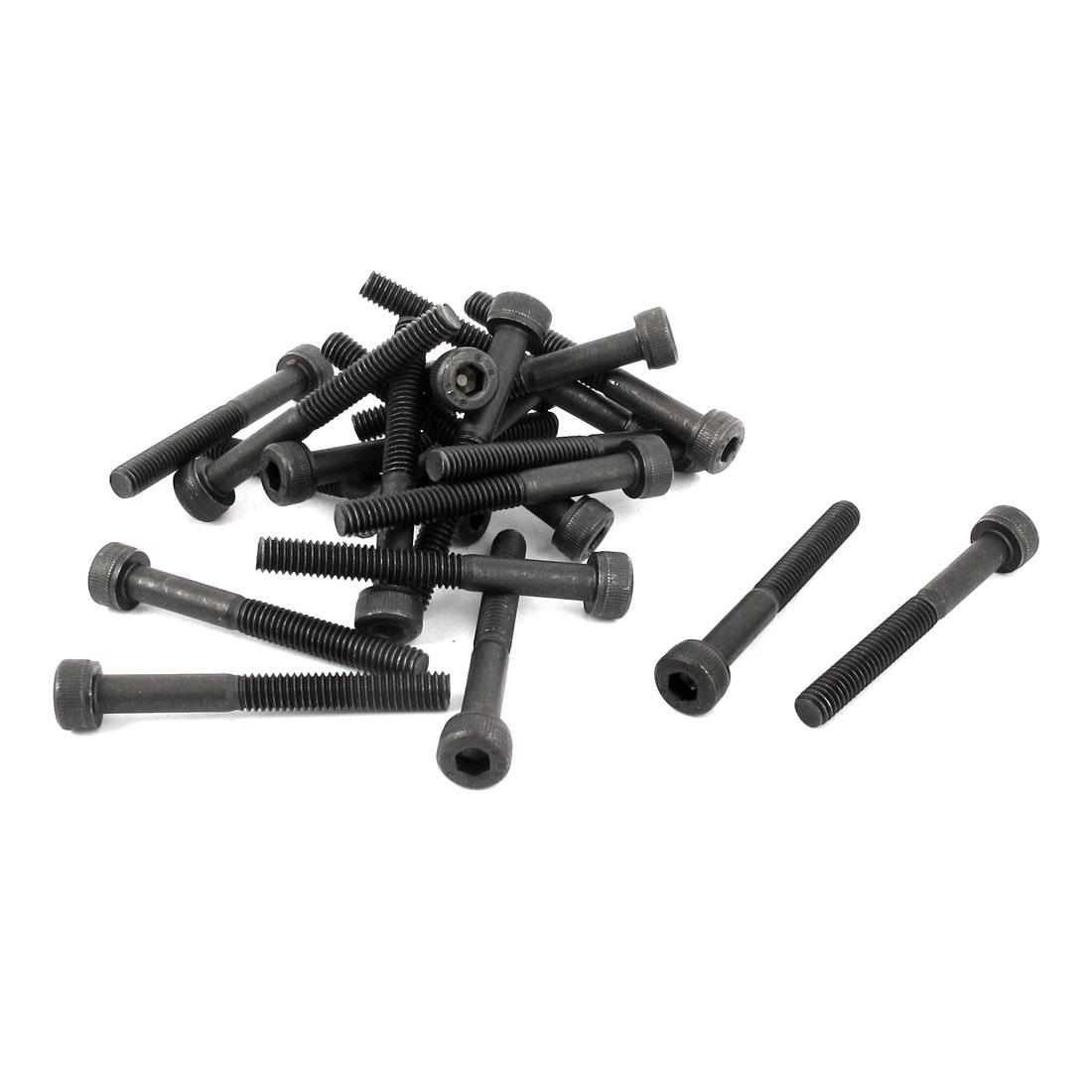 M4 x 35mm 12.9 Alloy Steel Hex Socket Head Cap Screws Bolts Black 20pcs