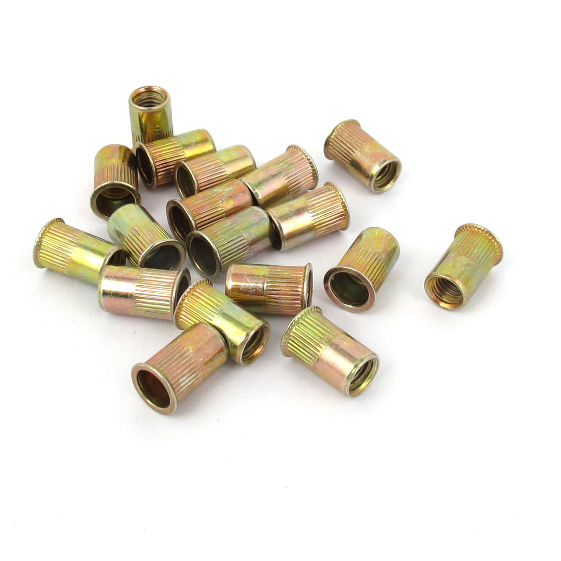 M5x12mm Metric Zinc Plated Flat Head Blind Rivet Nut Insert Nutsert 20pcs
