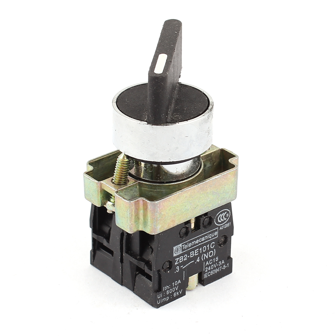 660V 10A 2 Selector Position Self Locking NO/NC DPST Rotary Switch
