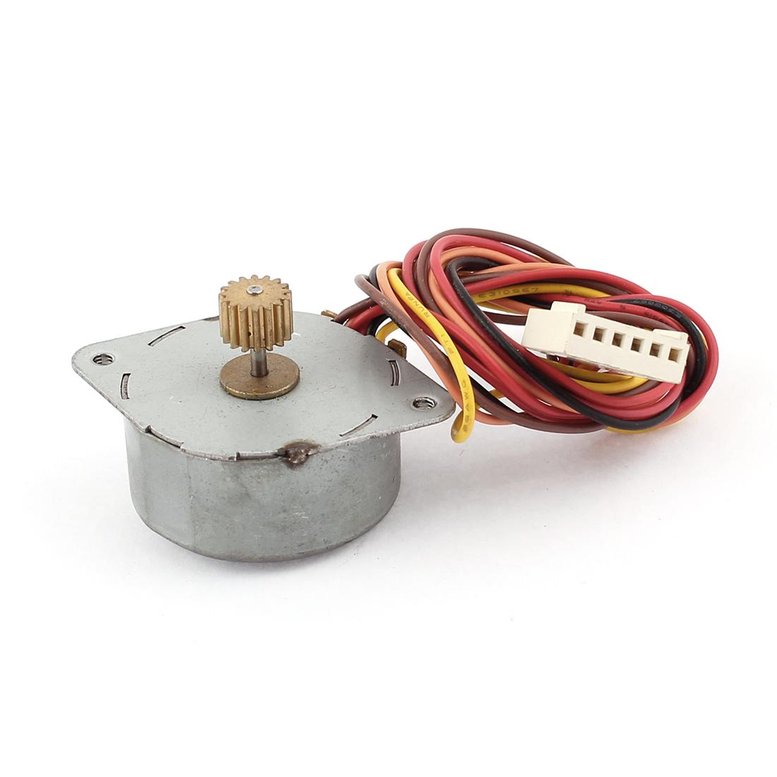 DC 3.5V 0.3mA 35mm Diameter Round Shaped 6 Wire Stepper Stepping Motor