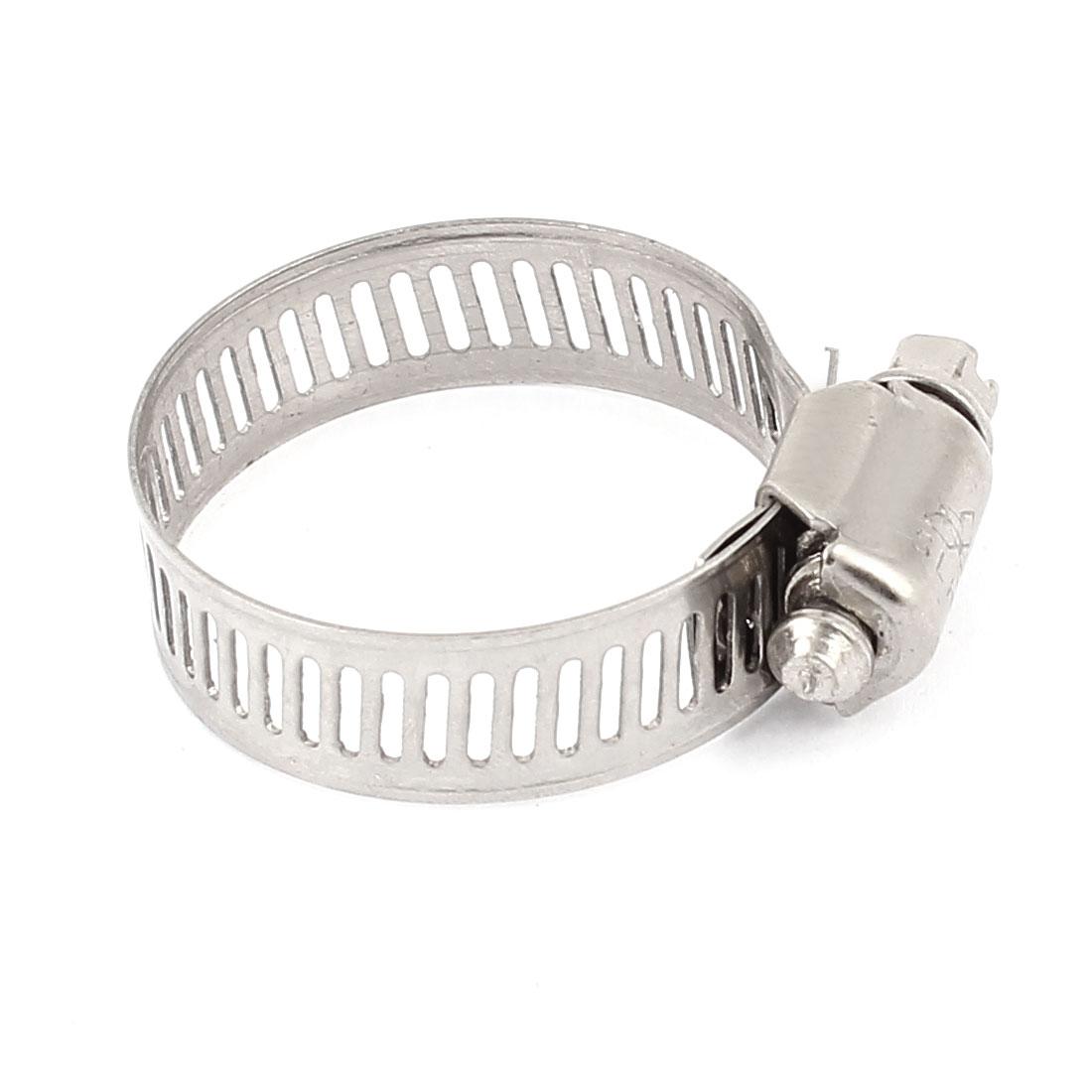 Metal Worm Drive Adjustable Pipe Ducting Hose Clamp Hoop 21-38mm