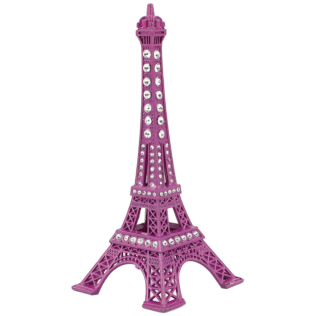 Metal Paris Miniature Eiffel Tower Model Souvenir Decoration Plum 5.1""