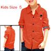 Boy Long Sleeve Point Collar Casual Slim Fit Shirt Allegra Kids Rust 5