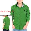 Boy Long Sleeve Point Collar Button Closed Shirt Allegra Kids Green 5