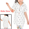 Girls Dots Prints Single Breasted Casual Shirt Allegra Kids White 12