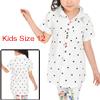 Girls Dots Prints Rivet Buttons Decor Casual Shirt Allegra Kids White 16
