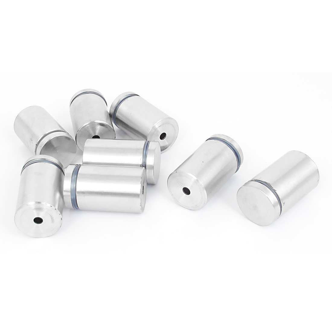 25mm x 40mm Stainless Steel Advertising Frameless Glass Standoff Pin Clamp 8pcs