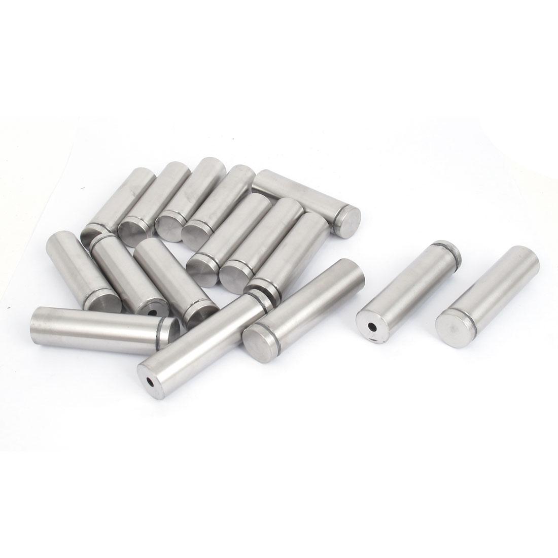19mm x 70mm Stainless Steel Advertising Frameless Glass Standoff Pins 16pcs