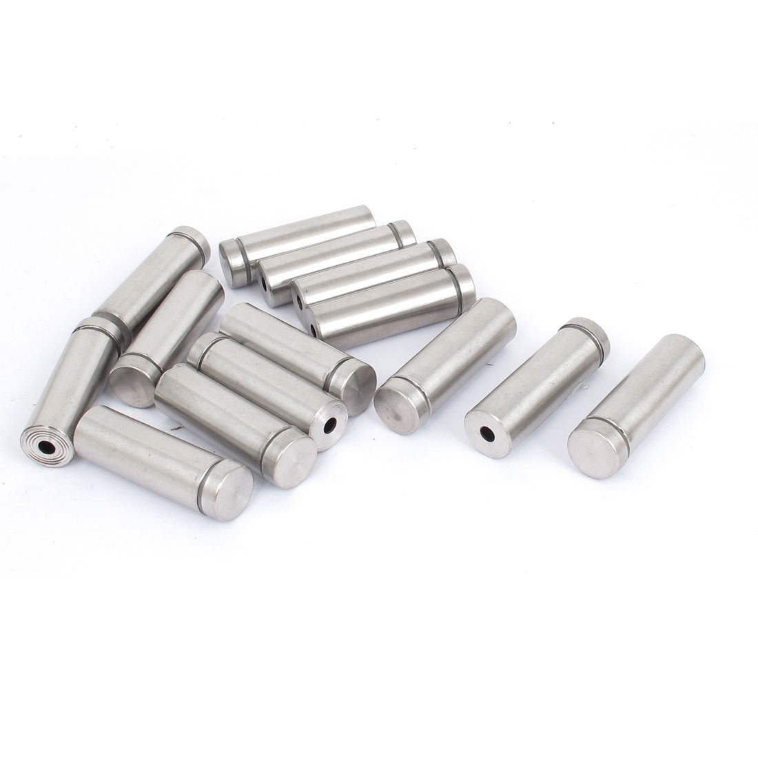 16mm x 50mm Stainless Steel Advertising Frameless Glass Standoff Pins 14pcs