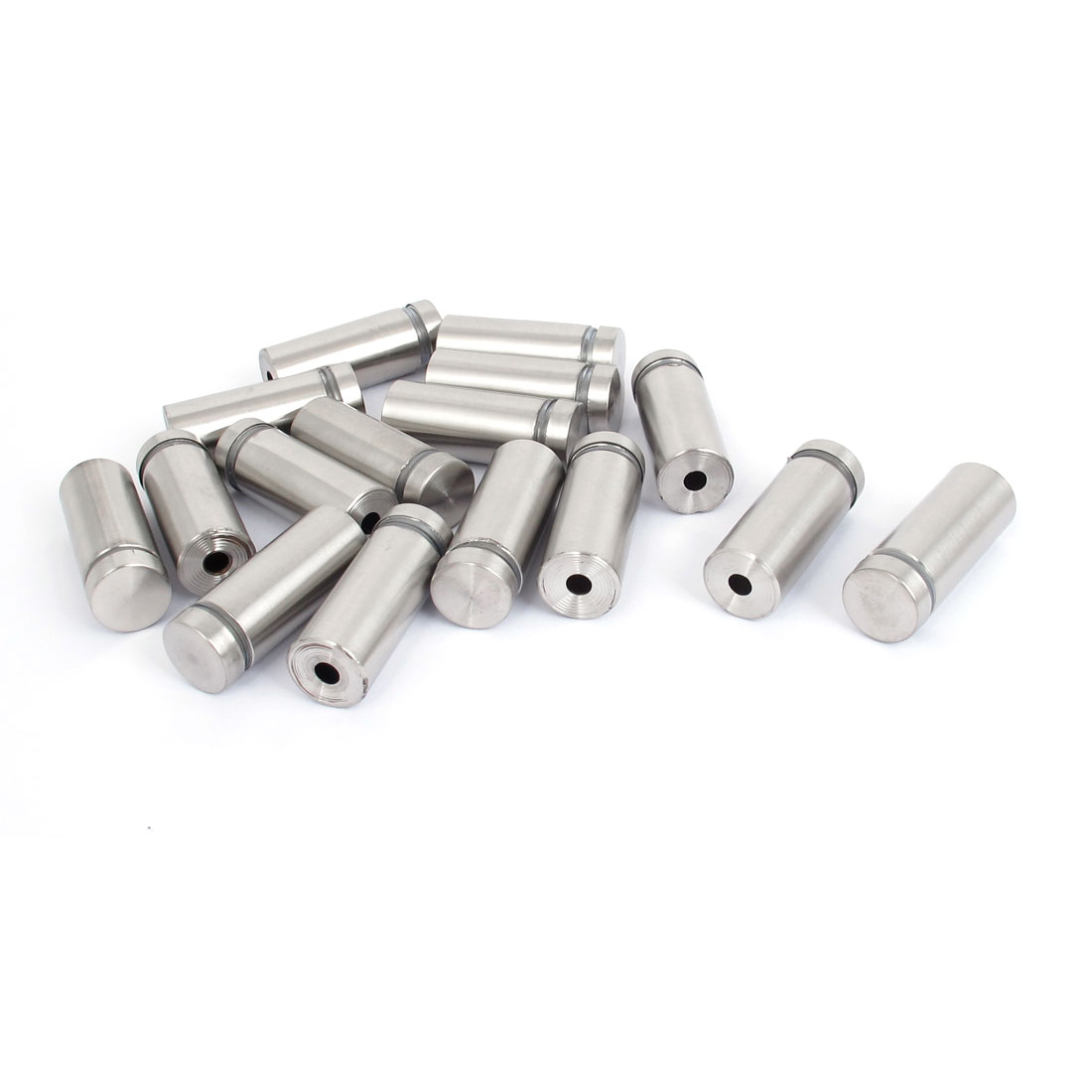 16mm x 40mm Stainless Steel Advertising Frameless Glass Standoff Pins 16pcs