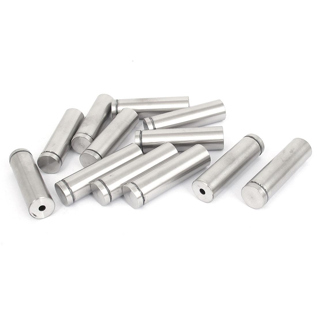 19mm x 70mm Stainless Steel Advertising Frameless Glass Standoff Pins 12pcs