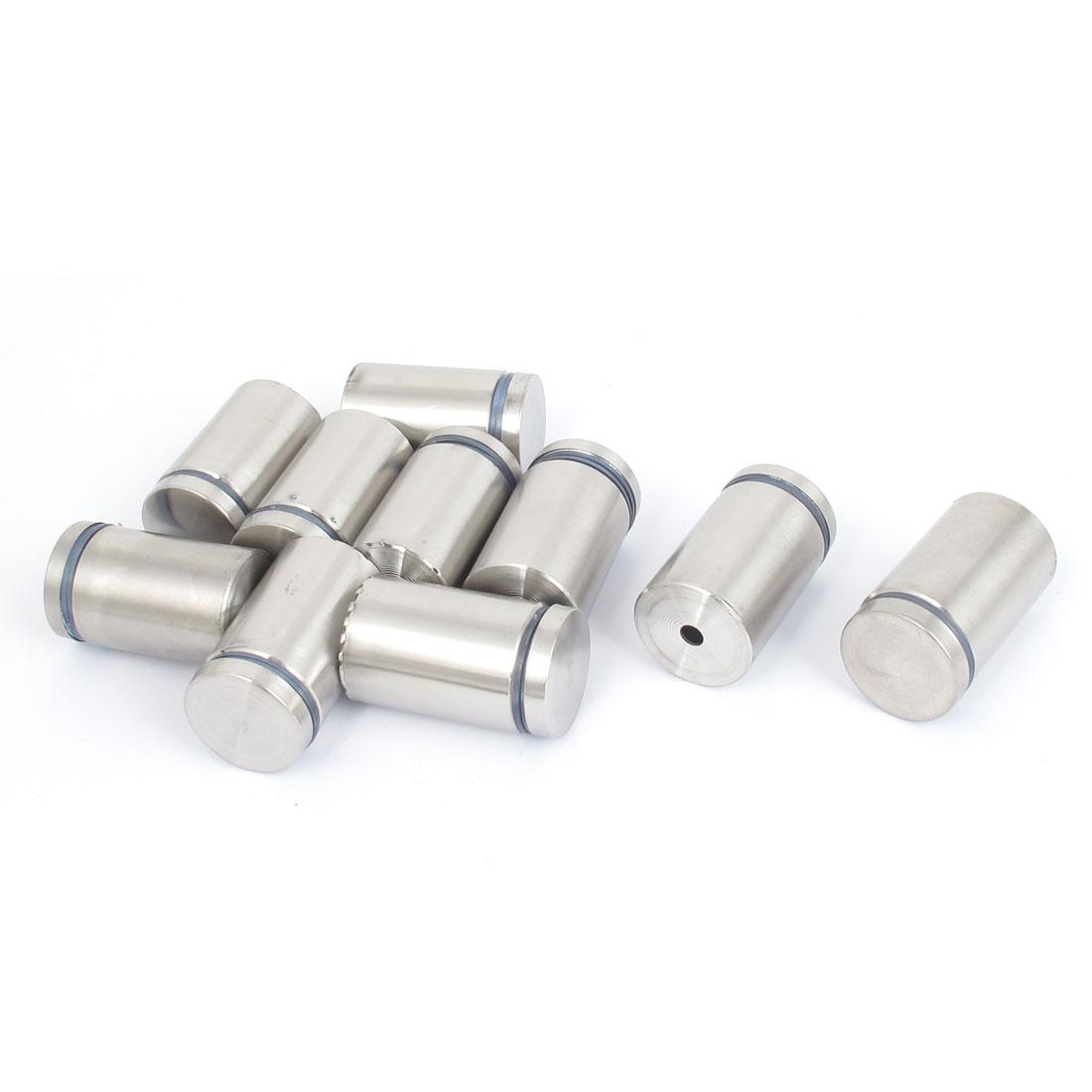 25mm x 40mm Stainless Steel Advertising Frameless Glass Standoff Pins 10pcs