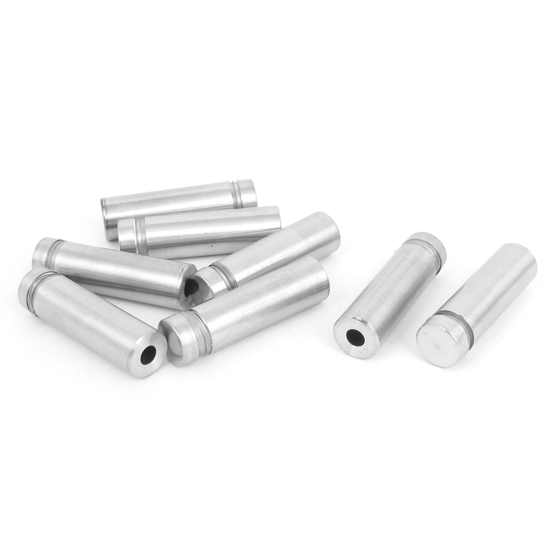 12mm x 40mm Stainless Steel Advertising Frameless Glass Standoff Pins Clamp 8pcs