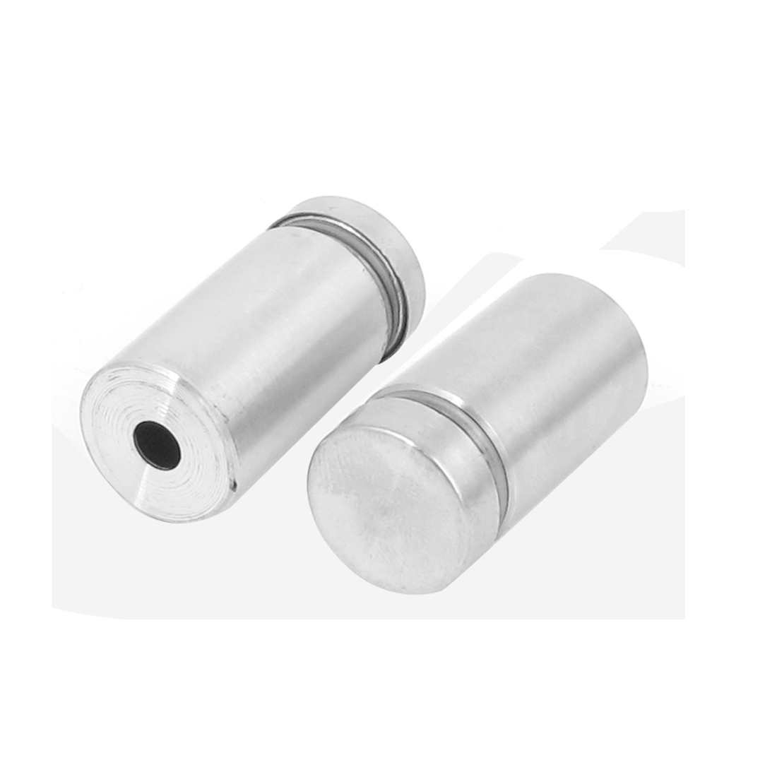16mm x 30mm Stainless Steel Advertising Frameless Glass Standoff Pins Clamp 2pcs