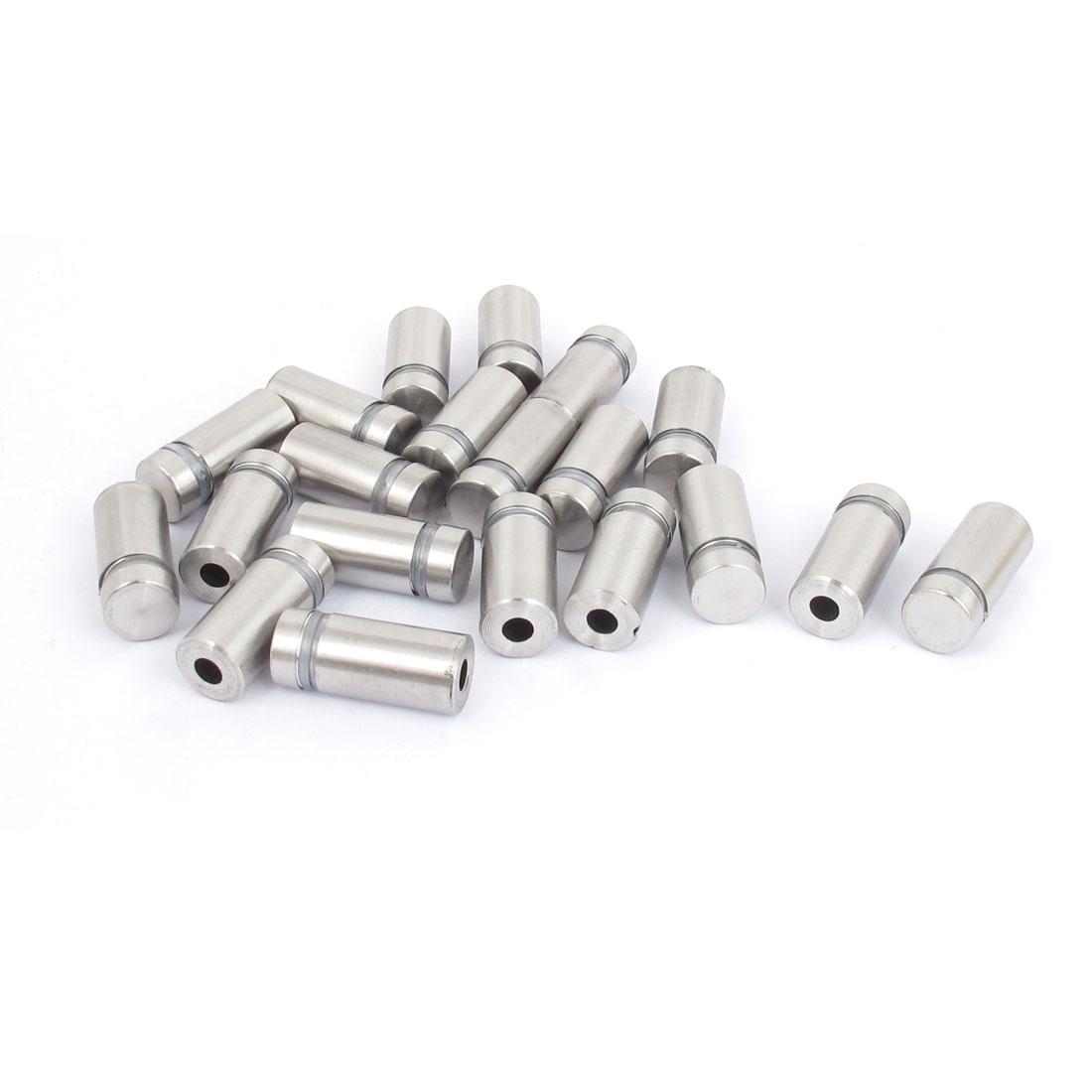 12mm x 25mm Stainless Steel Advertising Frameless Glass Standoff Pins 20pcs