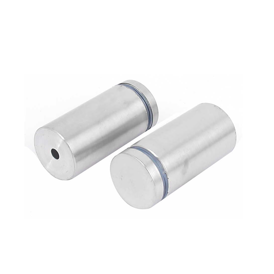 25mm x 50mm Stainless Steel Advertising Frameless Glass Standoff Pins Clamp 2pcs