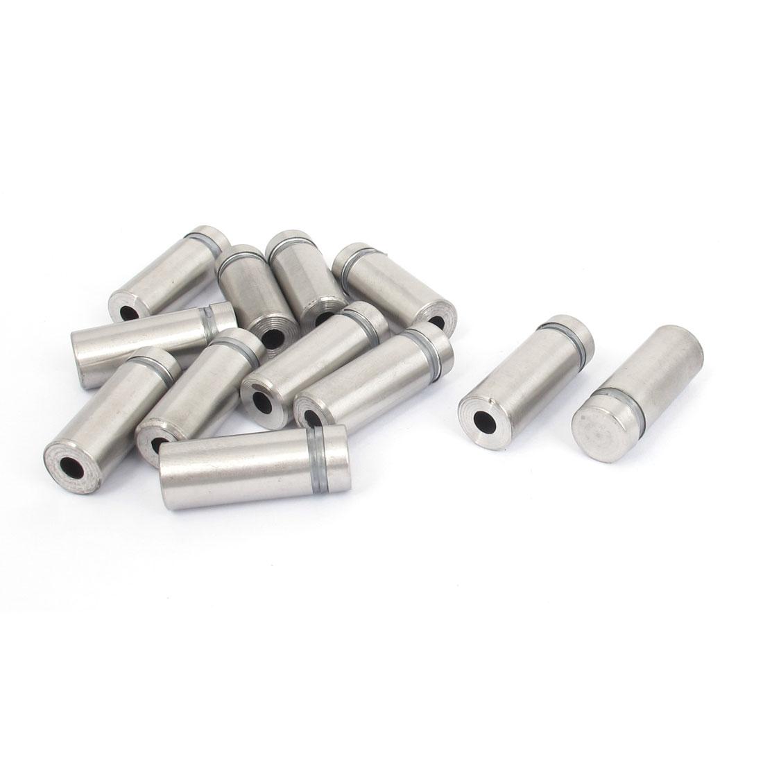12mm x 30mm Stainless Steel Advertising Frameless Glass Standoff Pins 12pcs