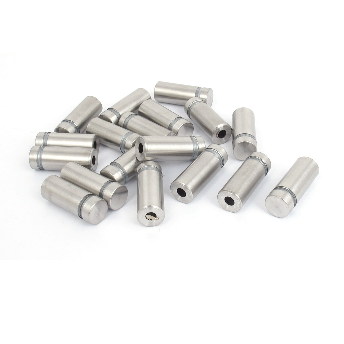 12mm x 30mm Stainless Steel Advertising Frameless Glass Standoff Pins 18pcs