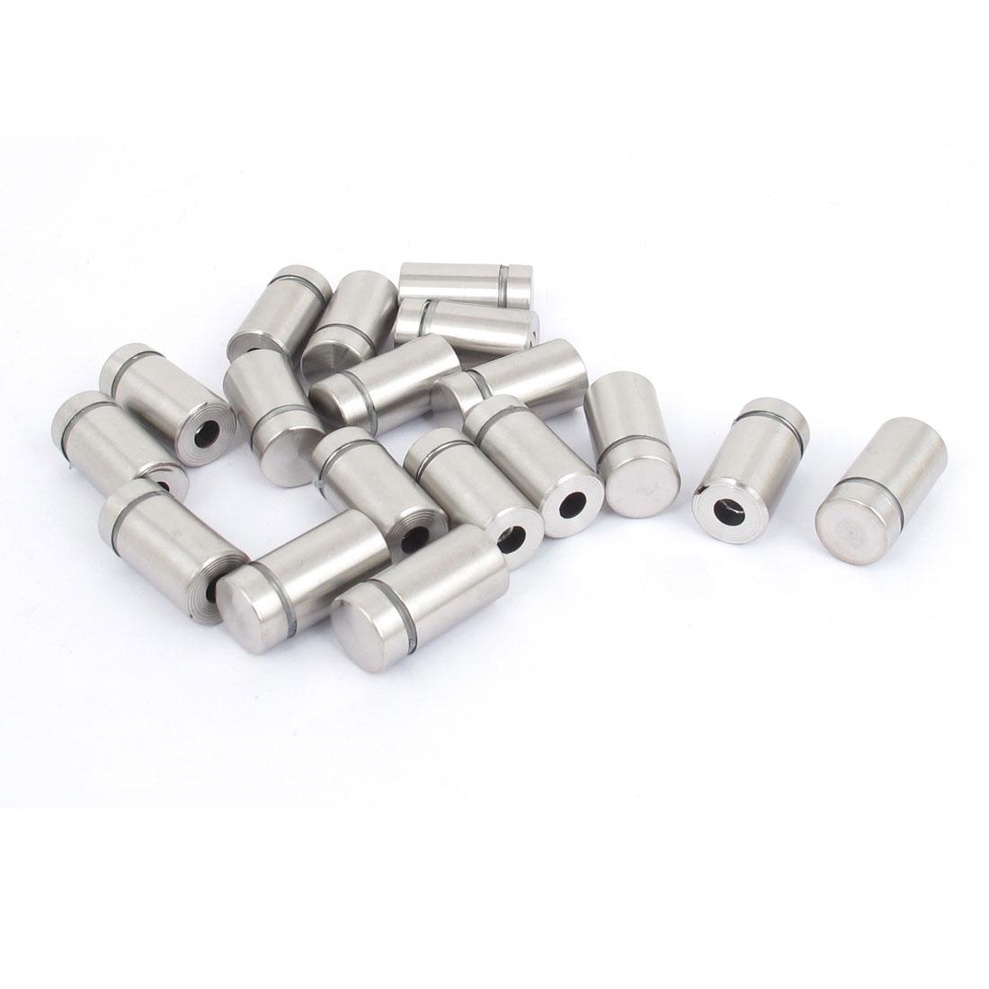 12mm x 22mm Stainless Steel Advertising Frameless Glass Standoff Pins 18pcs