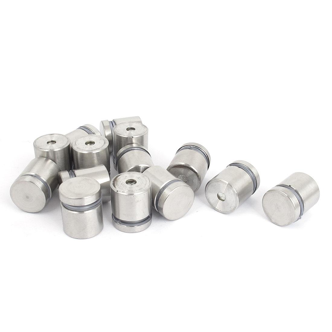 19mm x 20mm Stainless Steel Advertising Frameless Glass Standoff Pins 14pcs