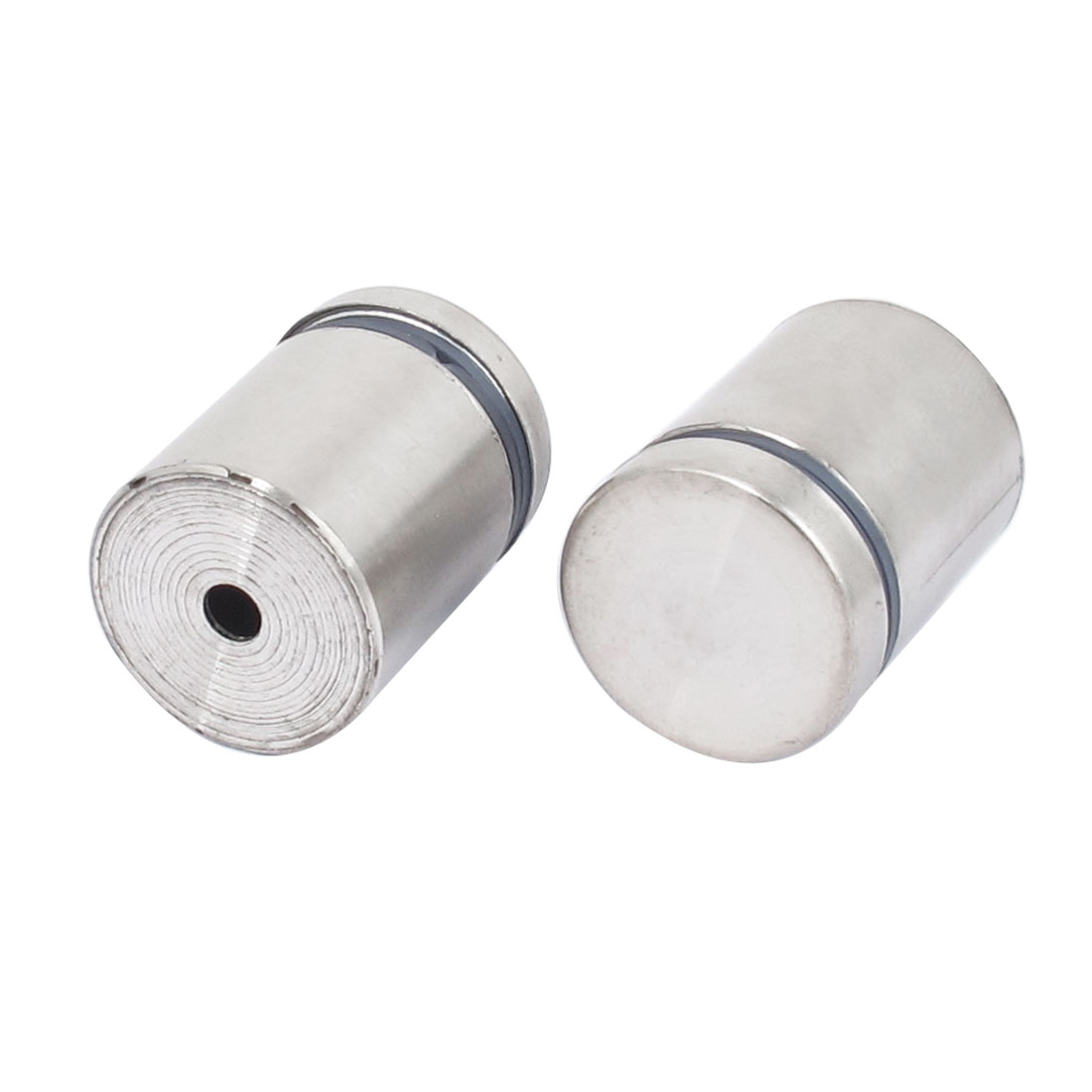25mm x 30mm Stainless Steel Advertising Frameless Glass Standoff Pin Clamp 2pcs