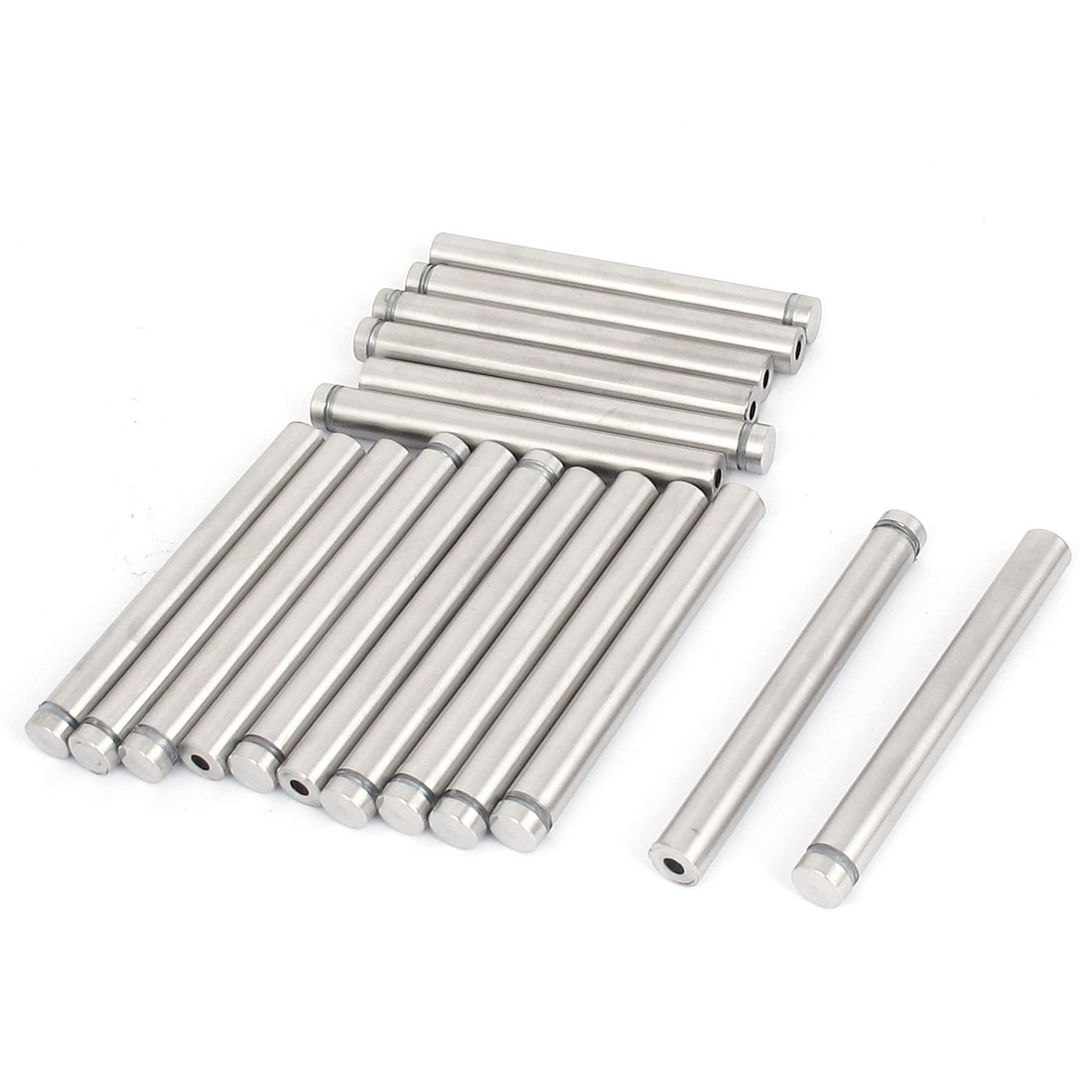 12mm x 100mm Stainless Steel Advertising Frameless Glass Standoff Pin 18pcs