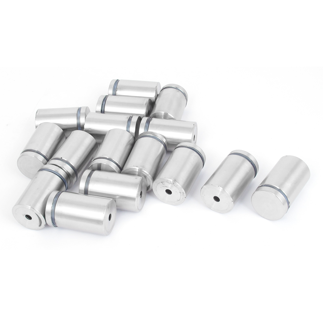 25mm x 40mm Stainless Steel Advertising Frameless Glass Standoff Pins 16pcs