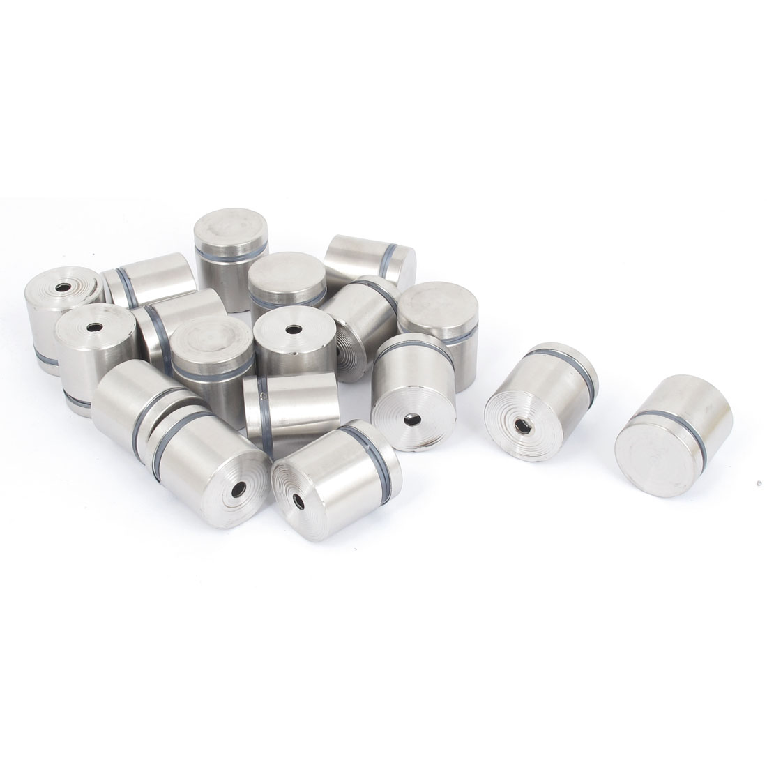 25mm x 25mm Stainless Steel Advertising Frameless Glass Standoff Pins 18pcs