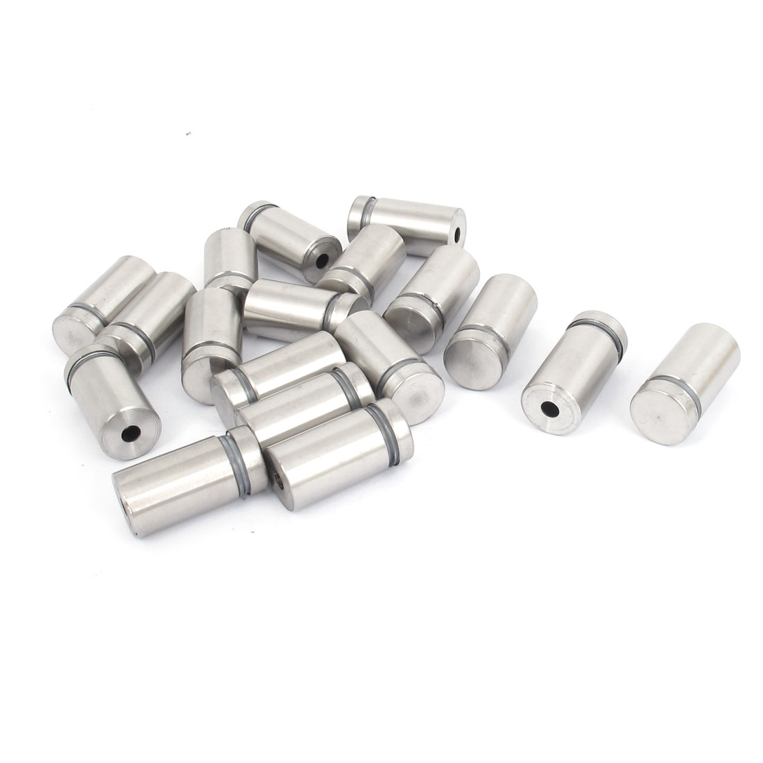 16mm x 30mm Stainless Steel Advertising Frameless Glass Standoff Pins 18pcs
