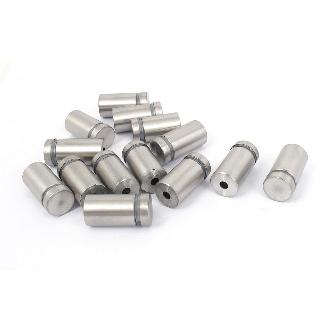 16mm x 30mm Stainless Steel Advertising Frameless Glass Standoff Pins 14pcs