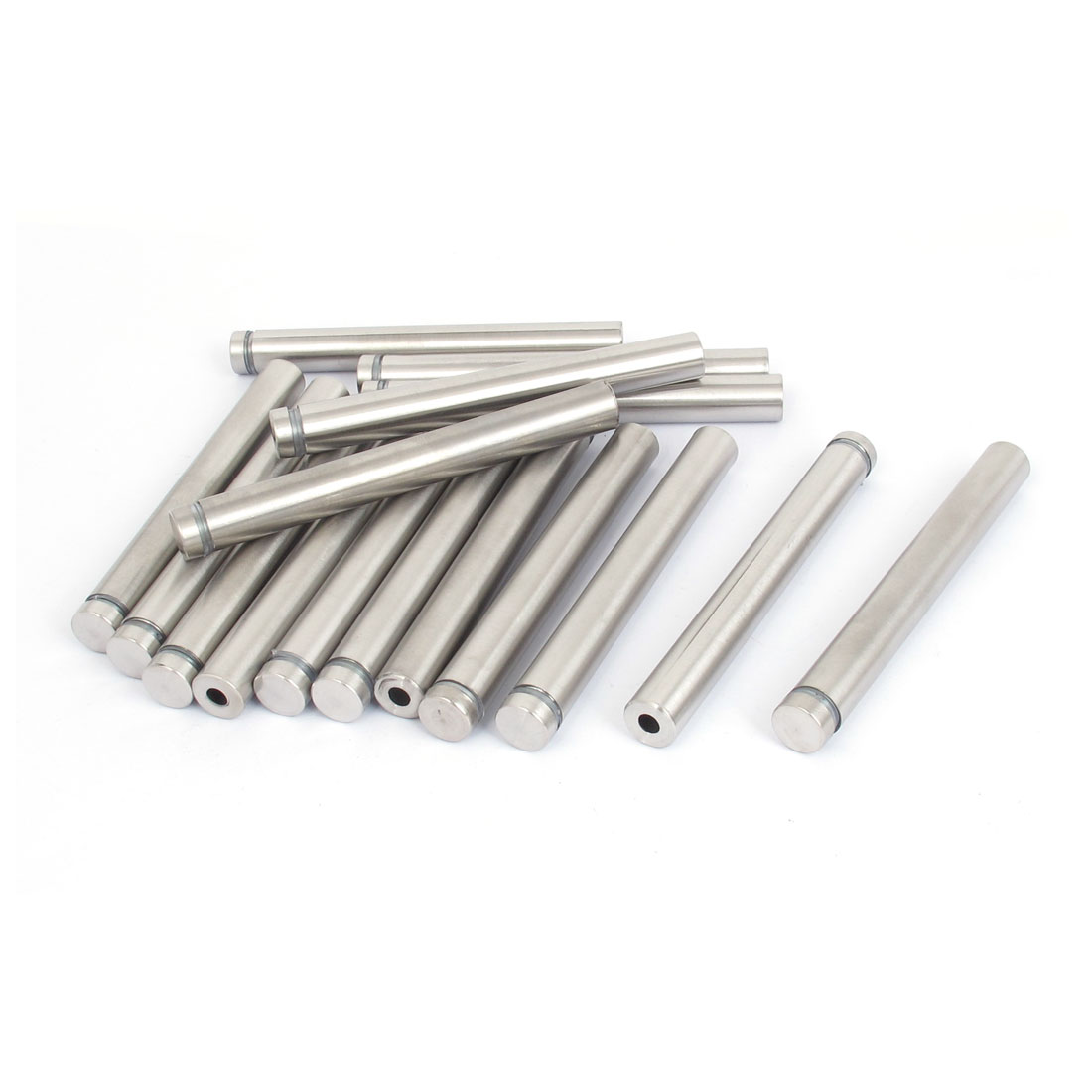 12mm x 100mm Stainless Steel Advertising Frameless Glass Standoff Pin 16pcs