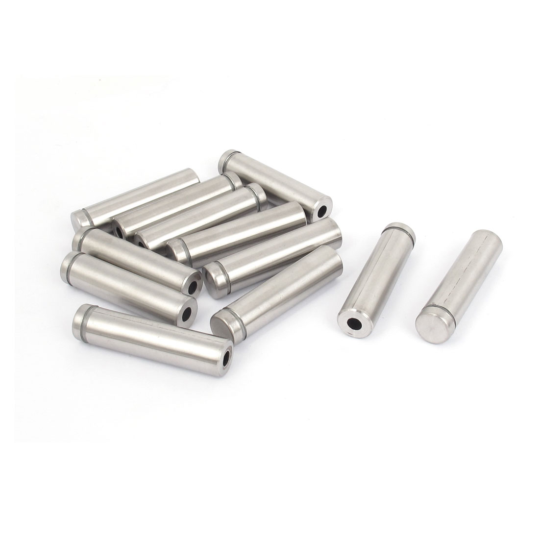 12mm x 50mm Stainless Steel Advertising Frameless Glass Standoff Pins 12pcs