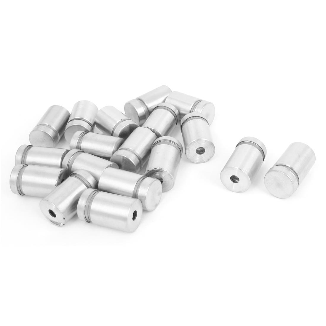 16mm x 25mm Stainless Steel Advertising Frameless Glass Standoff Pins 18pcs