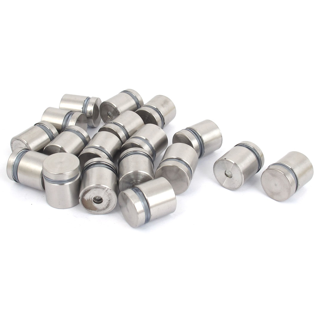 19mm x 20mm Stainless Steel Advertising Frameless Glass Standoff Pins 18pcs