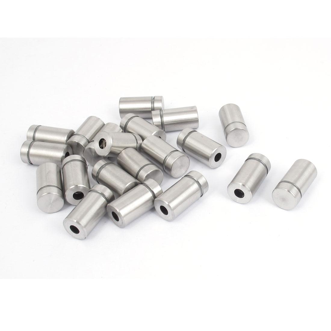 12mm x 22mm Stainless Steel Advertising Frameless Glass Standoff Pins 20pcs