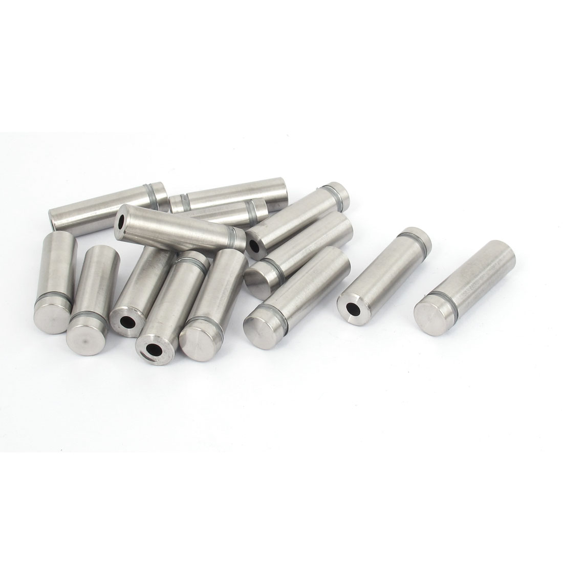 12mm x 40mm Stainless Steel Advertising Frameless Glass Standoff Pins 14pcs