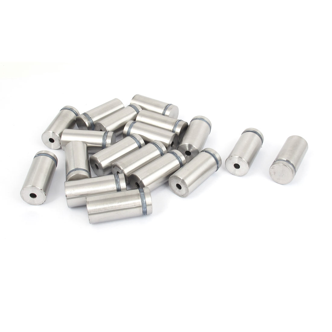 19mm x 40mm Stainless Steel Advertising Frameless Glass Standoff Pins 18pcs