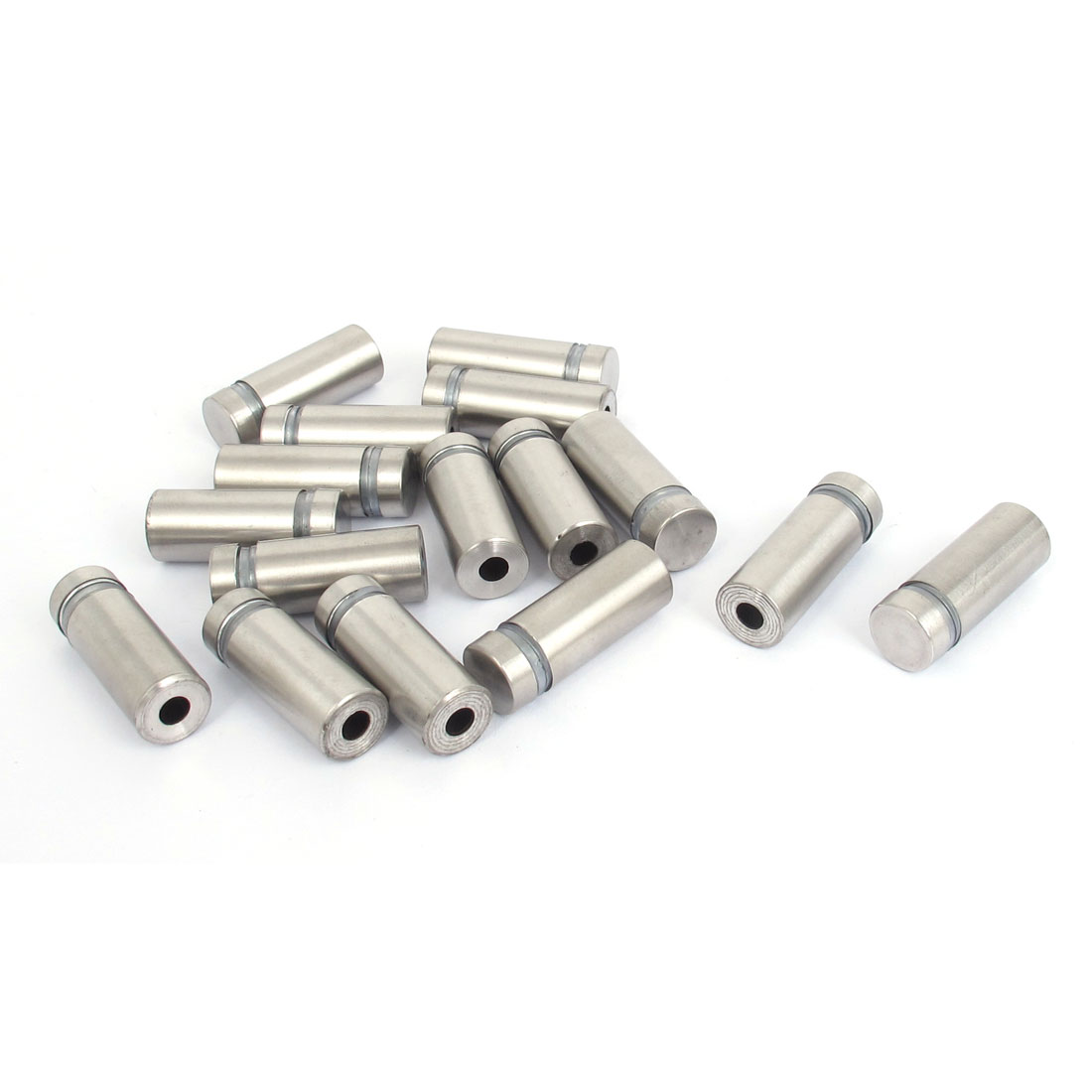 12mm x 30mm Stainless Steel Advertising Frameless Glass Standoff Pins 16pcs