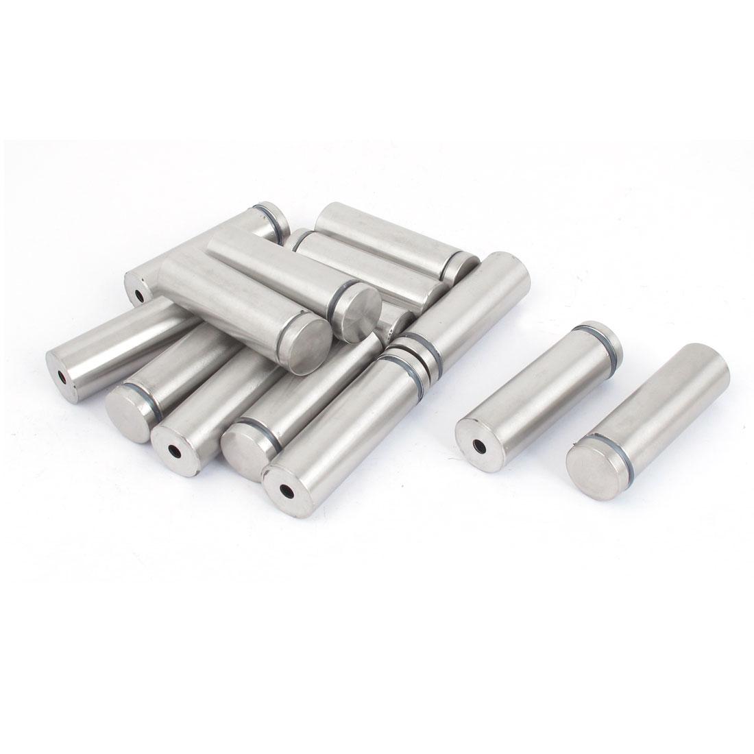 19mm x 60mm Stainless Steel Advertising Frameless Glass Standoff Pins 14pcs